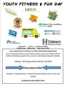 Brookwood Cluster Customized Flyer for Youth Fit and Fun Day 03 12 16